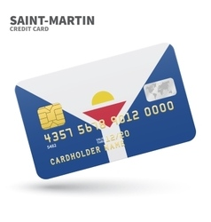 Credit card with saint-martin flag background vector