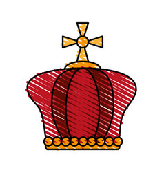 crown pope catholic emblem icon vector image