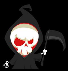 Cute cartoon grim reaper with scythe vector