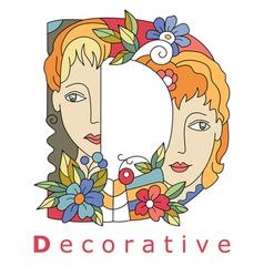 D decorative vector