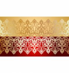 Decorative lace background vector
