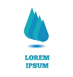 Design flat logo company Water drop blue vector