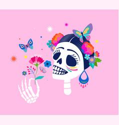 dia de los muertos day dead mexican vector image