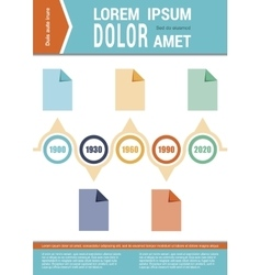 Document layout Infographic elements Timeline vector