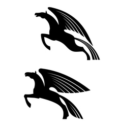 Fantasy winged horses vector image