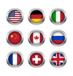 Flag buttons set 1 vector image
