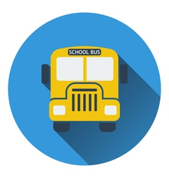 Flat design icon of School bus in ui colors vector image