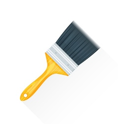 Flat paint brush icon vector