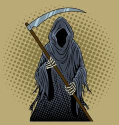 Grim reaper pop art vector