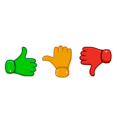 hand with the thumb vector image