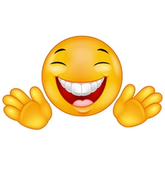 Happy emoticon smiley vector image