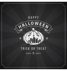 Happy Halloween Background and Pumpkin vector