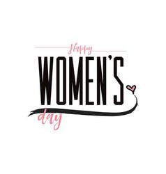 happy women s day minimalist design - badge vector image