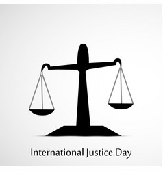 International justice day 17th july vector
