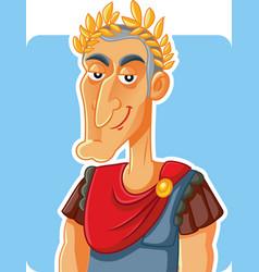 Julius caesar roman emperor caricature vector