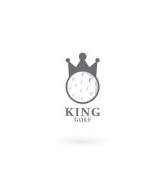 King golf logo design template vector
