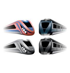 locomotives trains set vector image