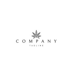 Logo on which an abstract image cannabis vector