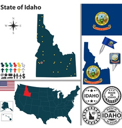 Map of Idaho vector