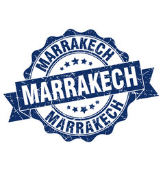 Marrakech round ribbon seal vector