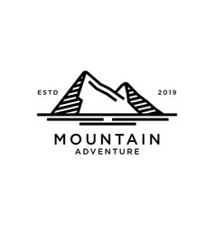 mountain logo design inspiration vector image