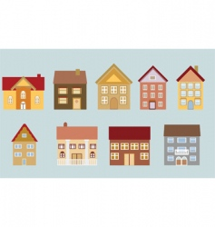 neighborhood set vector image