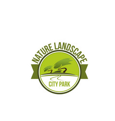 Park nature landscape icon for landscaping design vector