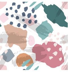 Pattern with hand drawn pale color sketchy shapes vector