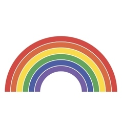 Rainbow icon lgbt community sign vector