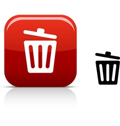Recycle bin icon vector