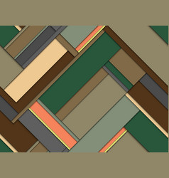 Seamless pattern of colored geometric stripes vector