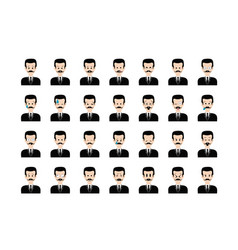 set of people emoticon vector image