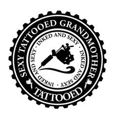 sexy tattooed grandmother vector image
