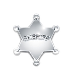 sheriffs metallic badge vector image
