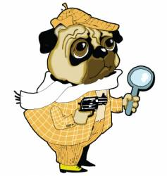 Sherlock holmes dog vector