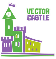 simple fantastic tower castle vector image