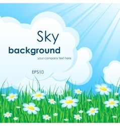 Sky nature background vector