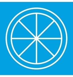 Sliced orange thin line icon vector