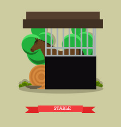 stable in flat style vector image