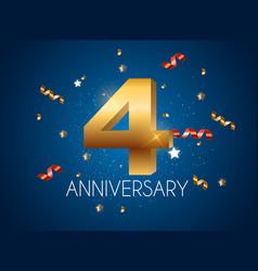 Template logo 4 years anniversary vector