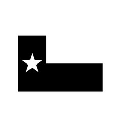 Texas tx state flag united states america vector