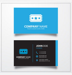 Ticket icon business card template vector