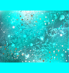 Turquoise foil background vector