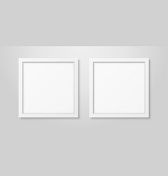 two realistic modern interior white blank vector image