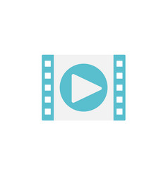 Video marketing flat icon vector