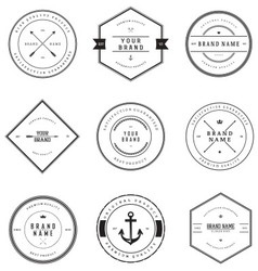 Vintage Brand Badges vector image