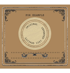 Vintage product label vector