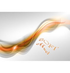 wave neon light white curve orange soft vector image