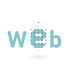WEB responsive logo design vector image