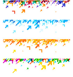 white banners with colorful arrows vector image